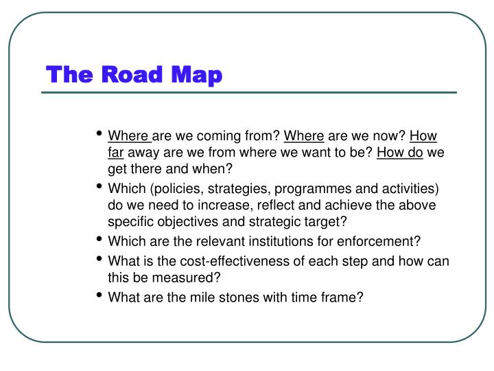 The Road Map