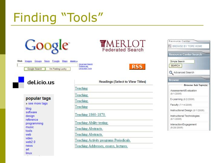 """Finding """"Tools"""""""