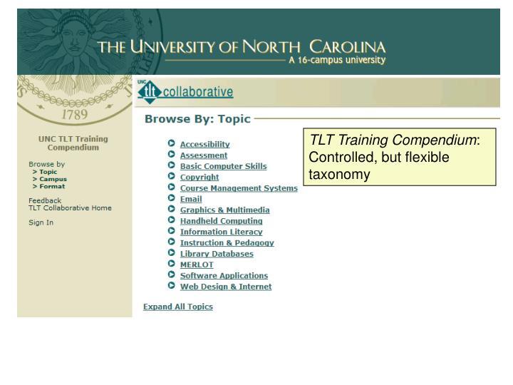 TLT Training Compendium