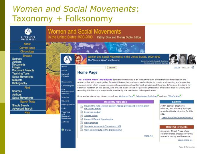 Women and Social Movements