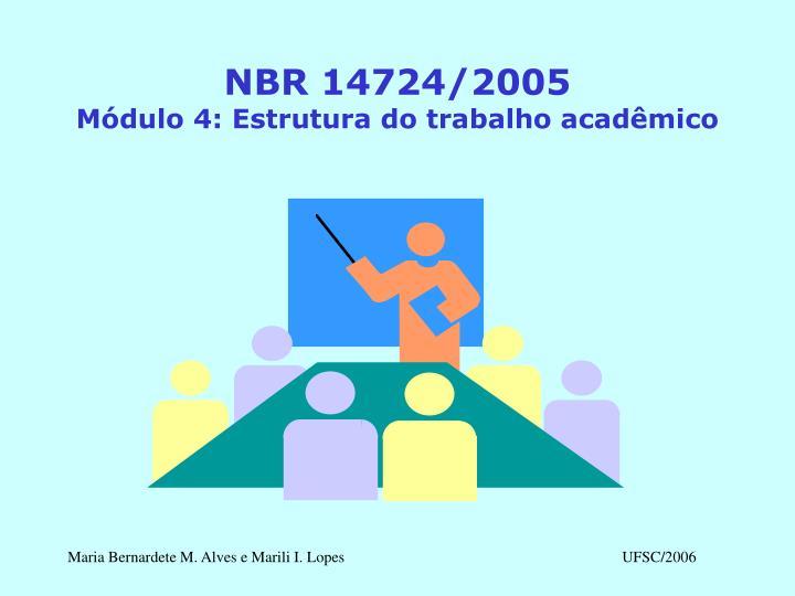NBR 14724/2005