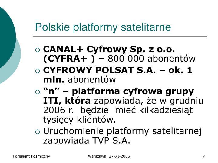Polskie platformy satelitarne