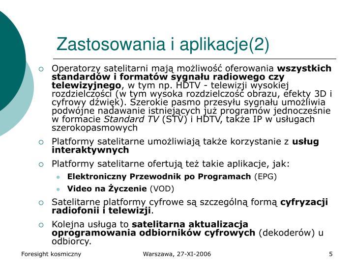 Zastosowania i aplikacje(2)