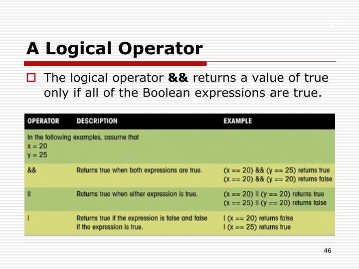 A Logical Operator