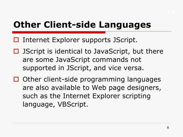 Other Client-side Languages