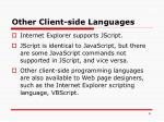 other client side languages