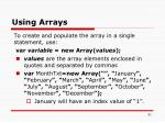 using arrays1