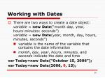 working with dates