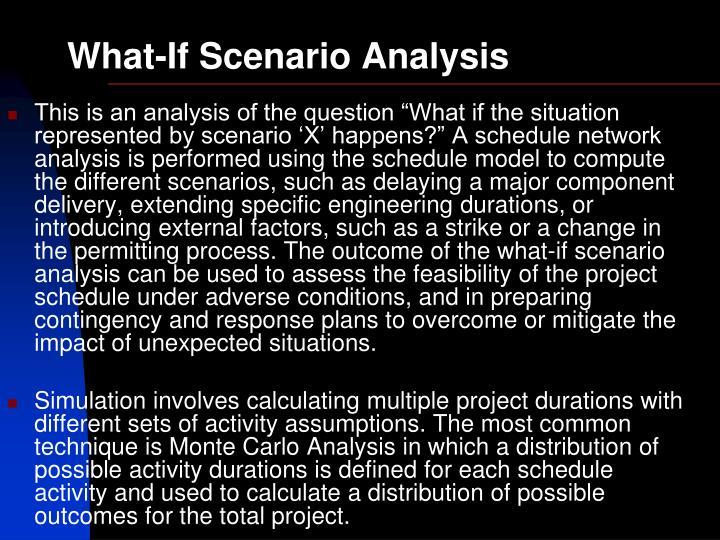 What-If Scenario Analysis