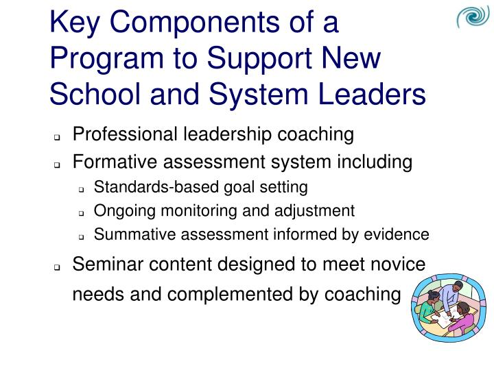 Key Components of a Program to Support New School and System Leaders