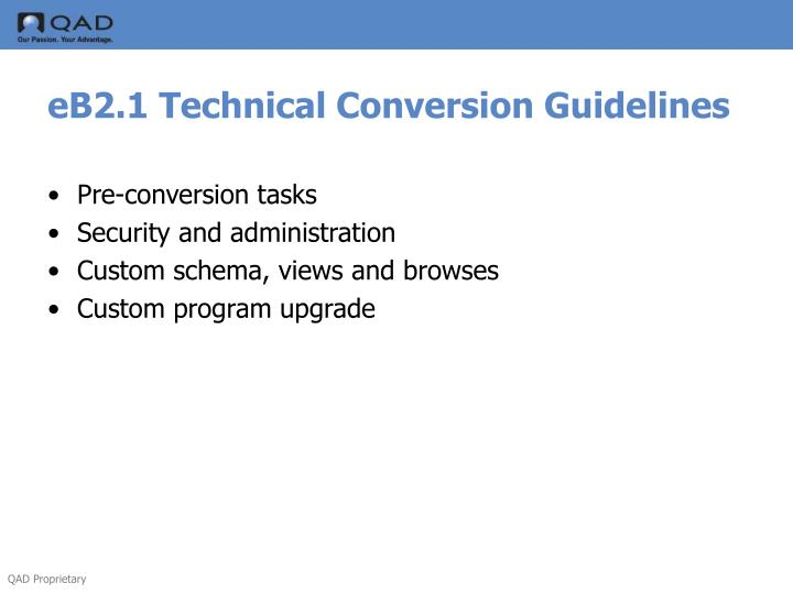 eB2.1 Technical Conversion Guidelines
