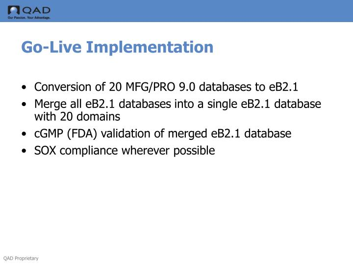 Go-Live Implementation