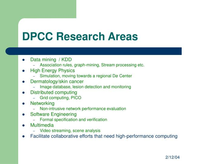 DPCC Research Areas
