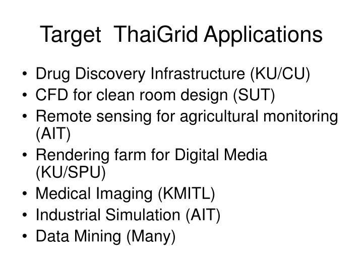 Target  ThaiGrid Applications