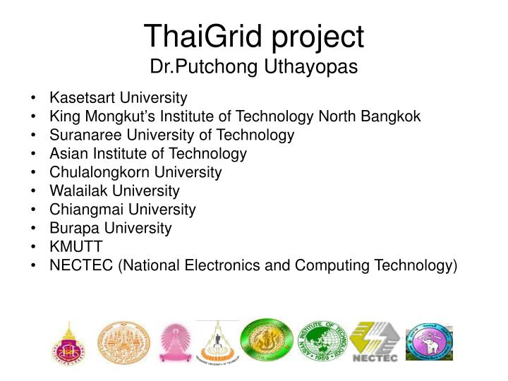 ThaiGrid project