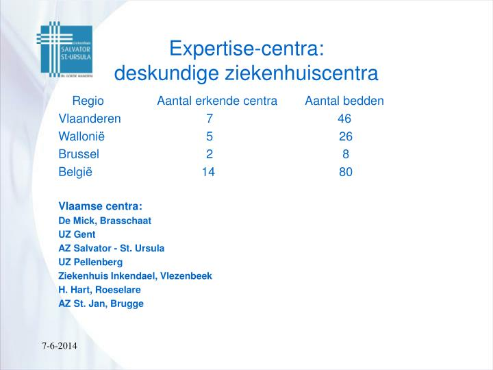 Expertise-centra: