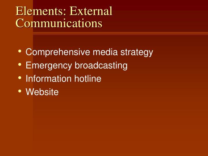 Elements: External Communications