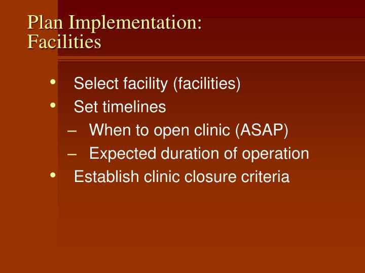 Plan Implementation: