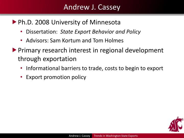 Andrew J. Cassey