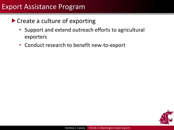 Export Assistance Program