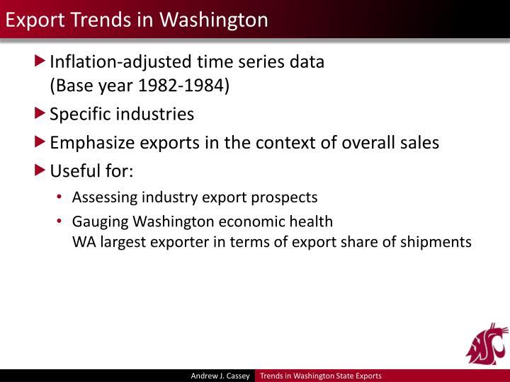 Export Trends in Washington