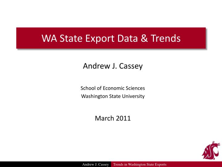 wa state export data trends