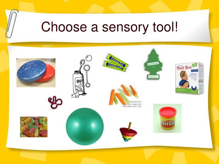 Choose a sensory tool!