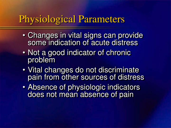 Physiological Parameters