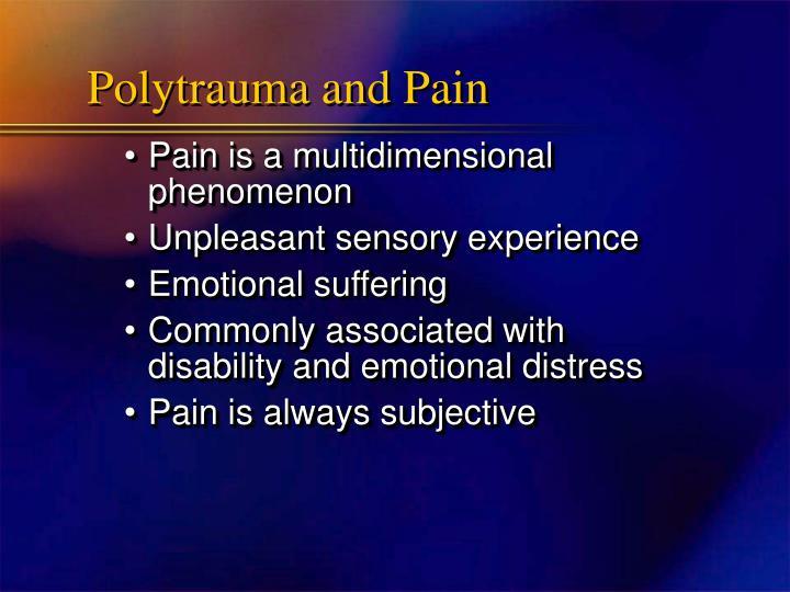 Polytrauma and Pain