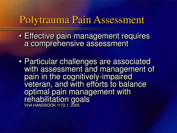 Polytrauma Pain Assessment