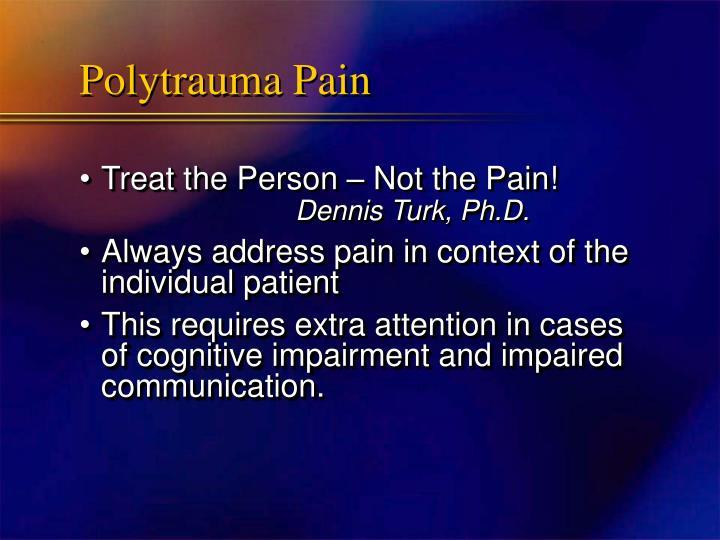 Polytrauma Pain