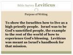 bible survey leviticus7