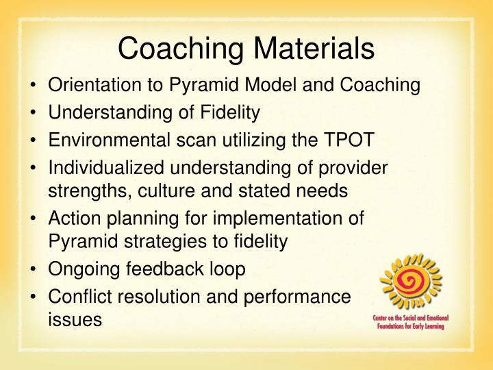 Coaching Materials