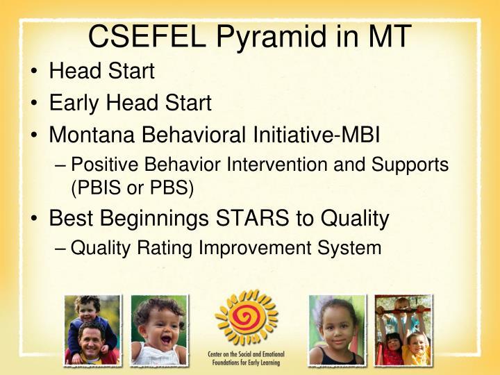 CSEFEL Pyramid in MT