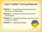 infant toddler training materials