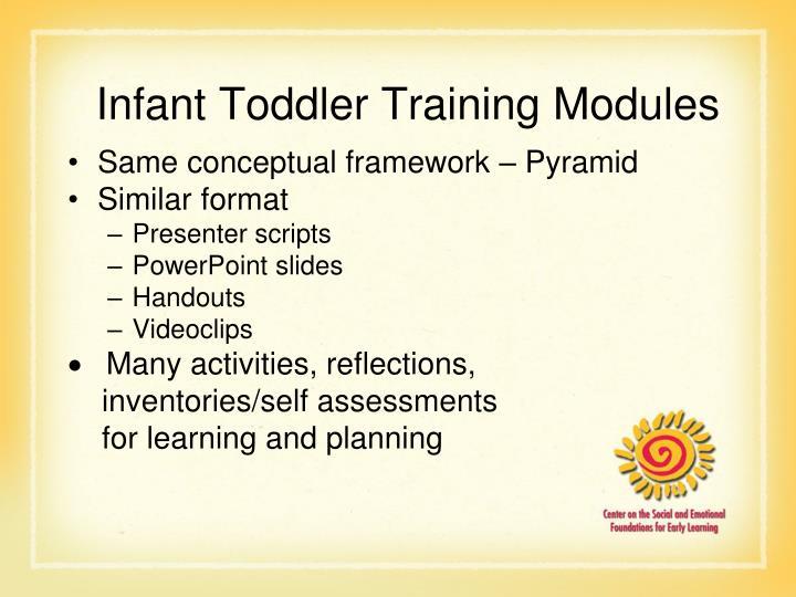 Infant Toddler Training Modules