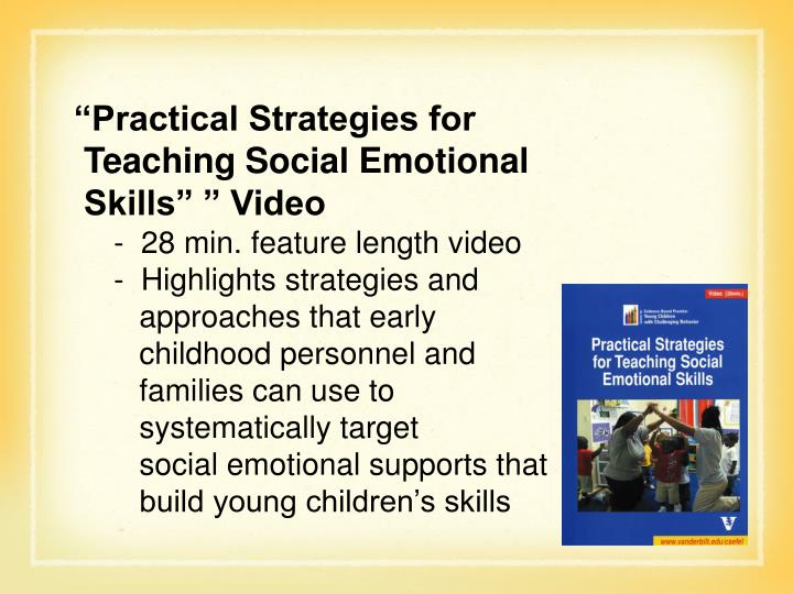 """""""Practical Strategies for"""