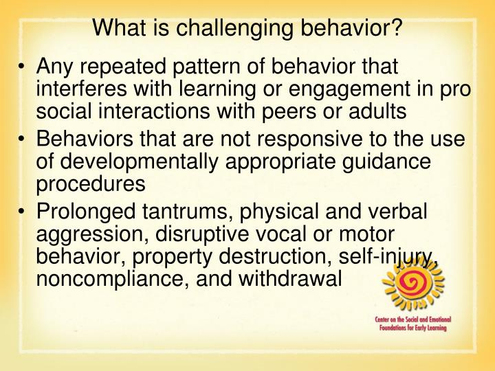 What is challenging behavior?