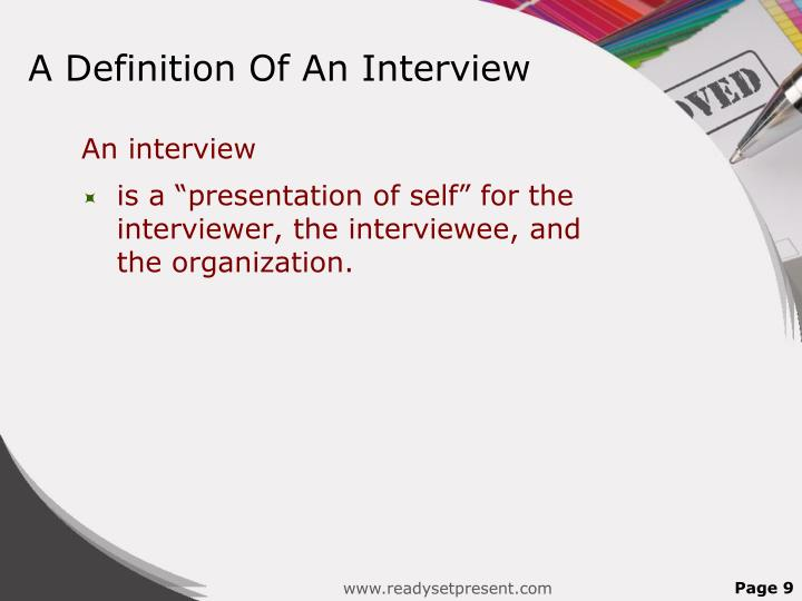 A Definition Of An Interview
