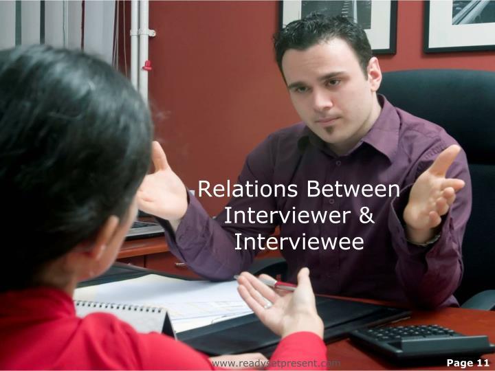 Relations Between Interviewer & Interviewee