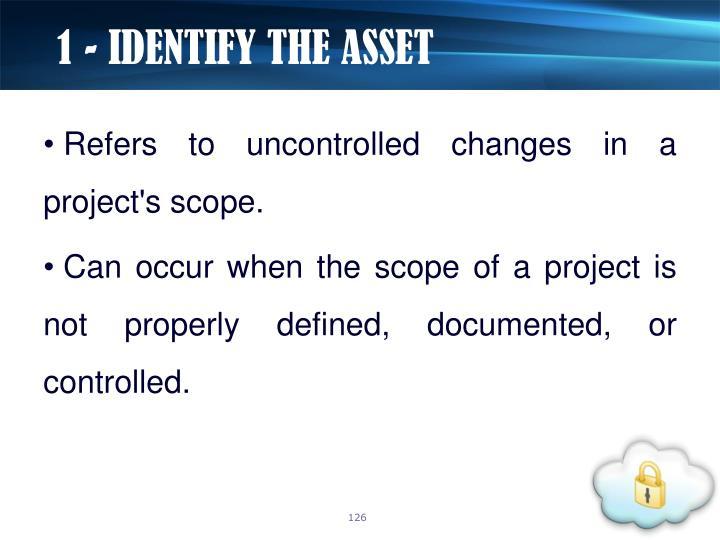 1 - IDENTIFY THE ASSET