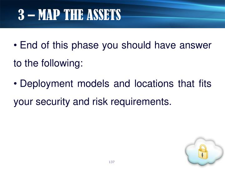 3 – MAP THE ASSETS