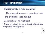 few top reasons