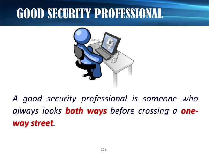 GOOD SECURITY PROFESSIONAL