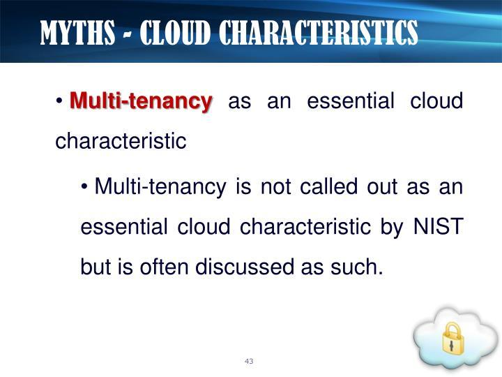 MYTHS - CLOUD CHARACTERISTICS