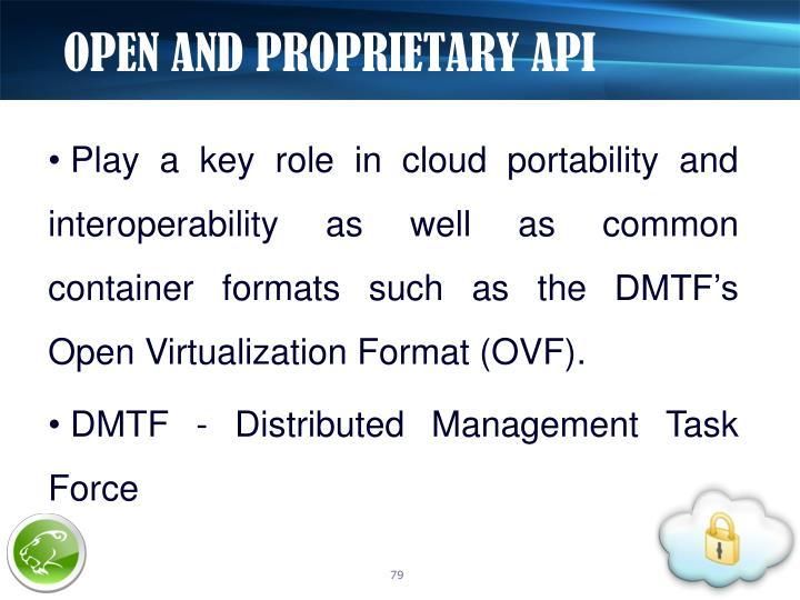 OPEN AND PROPRIETARY API