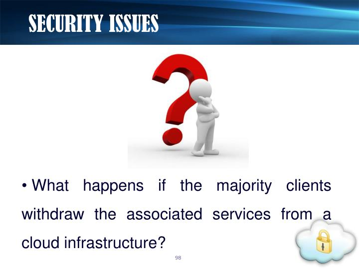 SECURITY ISSUES
