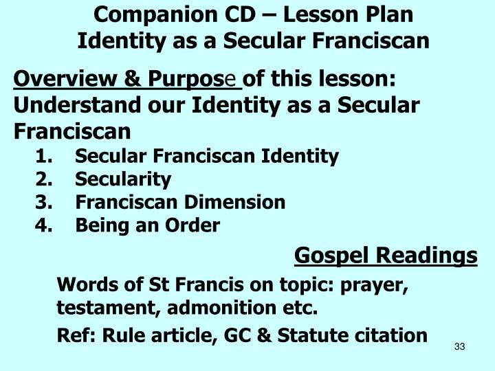 Companion CD – Lesson Plan