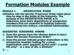 formation modules example