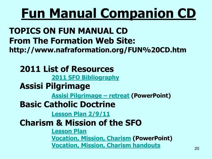 Fun Manual Companion CD